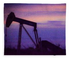 Oil Sunset Fleece Blanket