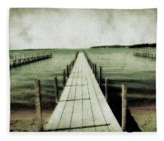 Okoboji Docks Fleece Blanket