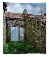 Old Abandoned House In Bainte Fleece Blanket