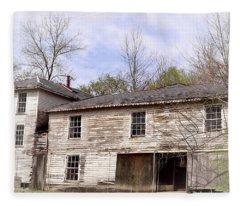 Old Abandoned House In Fluvanna County Virginia Fleece Blanket