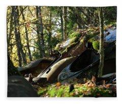 Old Cars Fleece Blanket