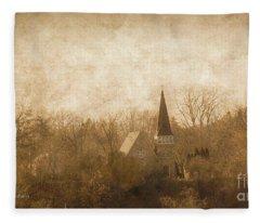 Old Church On A Hill  Fleece Blanket