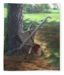 Old Farm Seeder, Louisiana Fleece Blanket
