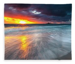 Old Lighthouse Fleece Blanket