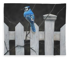 Old Picket Fence Fleece Blanket