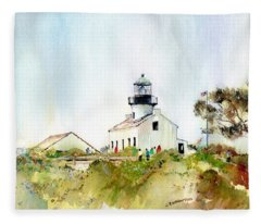 Old Point Loma Light Fleece Blanket