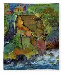 Old Point Loma Lighthouse Fleece Blanket