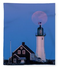 Old Scituate Light Fleece Blanket