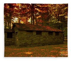 Old Stone Structure Fleece Blanket