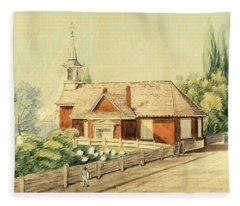 Old Swedes' Church, Southwark, Philadelphia Fleece Blanket