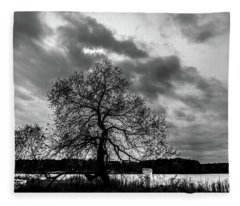 Old Tree II Fleece Blanket