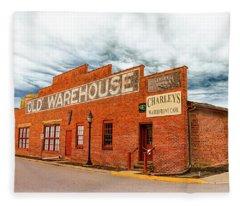 Old Warehouse In Farmville Virginia Fleece Blanket
