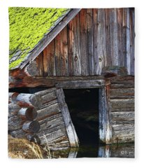 Old Well House #1 Fleece Blanket