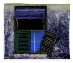 Old Window 2 Fleece Blanket