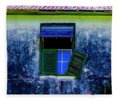 Old Window 3 Fleece Blanket