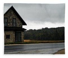On A Cloudy Corner Fleece Blanket