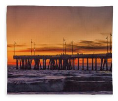 On Beach Time 3 Fleece Blanket