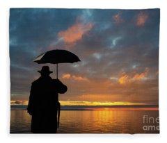 On The Edge Of Time Fleece Blanket