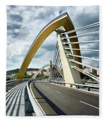 Millennium Bridge In Ourense, Spain Fleece Blanket