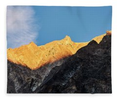 Fleece Blanket featuring the photograph On The Ridge by Whitney Goodey