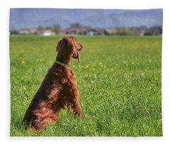 On The Watch Fleece Blanket
