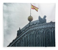 On Top Of The Puerta De Atocha Railway Station Fleece Blanket