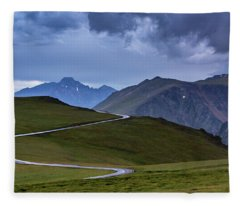 Fleece Blanket featuring the photograph On Top Of The World by John De Bord