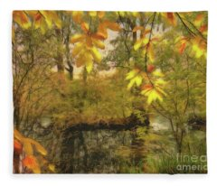 Once A Pond A Time Fleece Blanket
