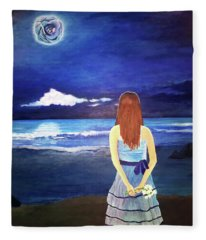 Once In A Blue Moon Fleece Blanket