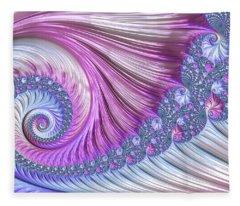 Opal Nautilus Fleece Blanket