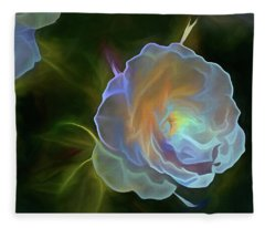Fleece Blanket featuring the mixed media Open To Light 11 by Lynda Lehmann