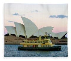 Opera And A Ferry Fleece Blanket
