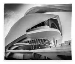 Opera House, Valencia. Fleece Blanket