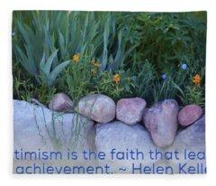 Optimism - Motivational Flower Art By Omaste Witkowski Fleece Blanket