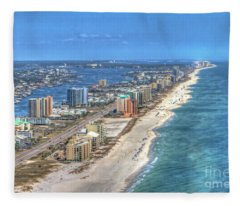 Orange Beach East Fleece Blanket