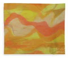 Orange Colors 1 Fleece Blanket
