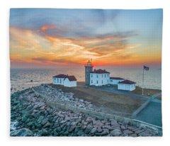 Orange Dreamsicle At Watch Hill Fleece Blanket