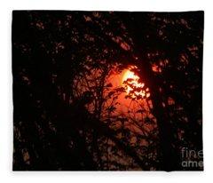 Orange Daybreak Fleece Blanket