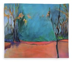 Orange Lake Fleece Blanket