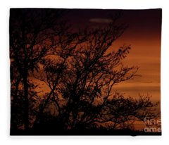 Orange Morning Fleece Blanket