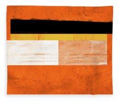 Orange Paper 4 Fleece Blanket
