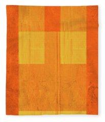 Orange Paper I Fleece Blanket