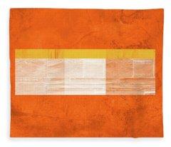 Orange Paper IIi Fleece Blanket