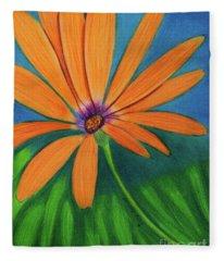 Orange Symphony On A Cool Spring Day  Fleece Blanket
