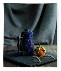 Orange Tea Fleece Blanket