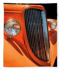 Orange Vision II Fleece Blanket