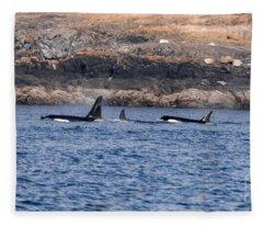 Orca J Pod Fleece Blanket