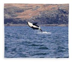 Orca Splash Down Fleece Blanket