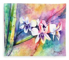 Orchid Fun Fleece Blanket