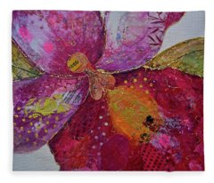 Orchid Passion I Fleece Blanket